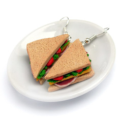 Sandwich Earrings by weggart