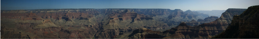 Its hard to get a good shot of the Grand Canyon with just one little photo. But when you put about five together you get something like the above.
