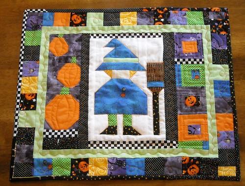Halloween doll quilt