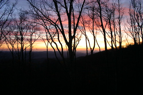 Sunrise in the mountains near Boone, NC