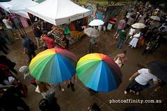 Umbrellas (jon_photoaffinity) Tags: festival photography crowd sydney aerial pole newtown pap photoaffinity