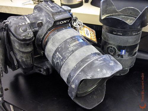 "What my camera looked like after this year""s Burning Man."
