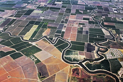 Confluence (skipmoore) Tags: canal quilt farms produce airphoto agriculture irrigation sacramentovalley swa