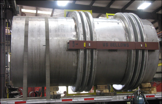90 inch Universal Flanged and Flued Head Expansion Joint and Duct Work Assembly