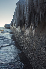 Winter fangs, Toronto (Kyra Savolainen) Tags: winter snow toronto canada cold ice landscape march 40mm lakeontario 2014 canont4i