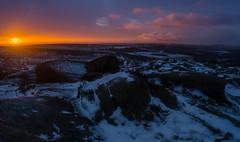 Ice and Fire (Peter Quinn1) Tags: higgertor derbyshire sunrise morning iceandfire snow winter ice peakdistrict darkpeak