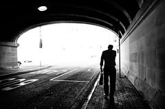 Going Home (bigboysdad) Tags: silhouette bw blackandwhite monotone monochrome ricoh gr street
