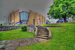Plymouth Mall (Allan Jones Photographer) Tags: plymouth plymouthmall drakescircus devon wideangleplymouthmall hdr samyang building grass tree architecture allanjonesphotographer photoshop art artistic canon5d3 samyang14mmf28 14mm
