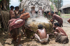 The cooking pit / mound is fastened and weighted (10b travelling / Carsten ten Brink) Tags: 1000plus 10btravelling 2016 asia asie asien baliem carstentenbrink dani iptcbasic indonesia indonesian irianjaya jayawijaya newguinea papua papuabarat papuan southeastasia wamena westpapua cooking cookingpit ethnicgroup feast festival island meat offering pig pigfestival pork tenbrink tradition traditional tribal tribe valley village