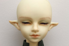 Faceup - Leprechaun Boys Li (Damasquerade) Tags: bjd artist sculpt head balljointdoll rare faceup leprechaunboysli elf ears mouth open teeth