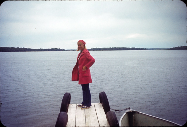 1971 08 Cathie Masters - Maple Lane - Laurie Irene Ekwall on the Dock at Maple Lane