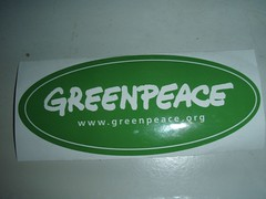 Greenpeace Decal