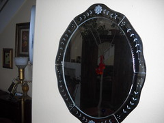 etched wall vintage mirror target venetian chic decor hang oval shabby saturdaysfindsinnorthlasvegas
