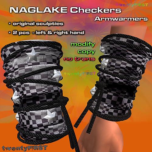 NAGLAKE Crazy Checkers armwarmers
