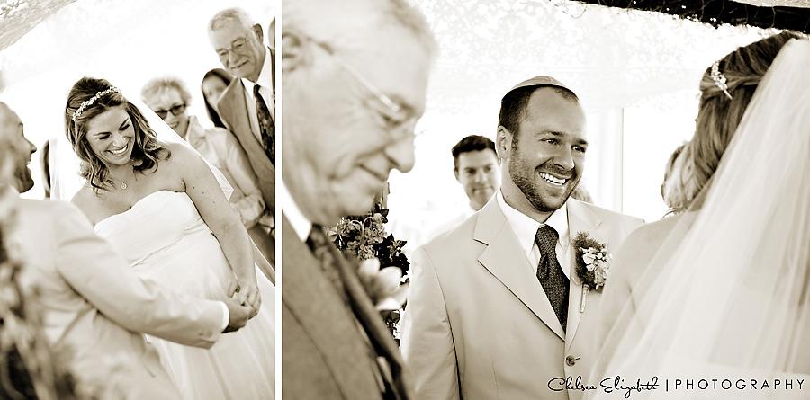 Dandeana FantaSea Yacht Club Sepia Wedding Ceremony