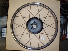 Front Rim - 1 side relaced