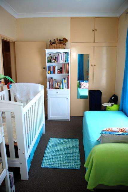 blue boy white nursery jungle crib lime cot