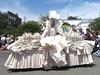 Paper Dress (jhtatroe) Tags: seattle fremont parade fremontsolsticeparade solsticeparade fremontsolsticeparade2009 solsticeparade2009
