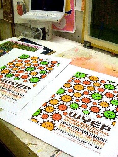 4th & final color printed, all done!