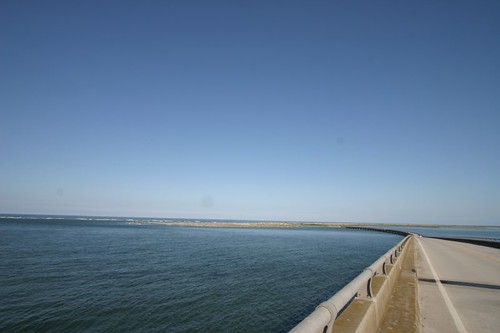 View from Bonner Bridge, from Pea to Bodie Island.