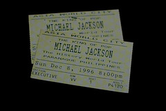 Michael Jackson Memorabilia (WetCraft) Tags: canon 350d concert king philippines 1996 ticket icon pop jerome michaeljackson tribute pinoy jako memorabilia kingofpop chua jacko canon50d jackson2009 jeromechua 19582009 michaeljacksonticket michaeljacksonmemorabila