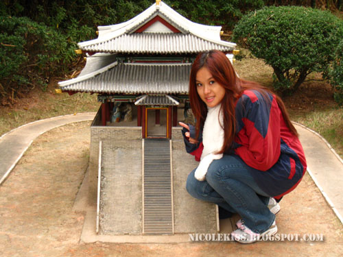 posing with bu tung mun gate in Korea
