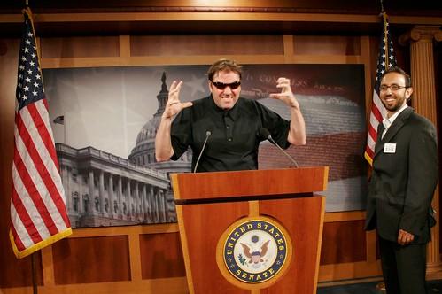 Robb at the U.S. Senate press room