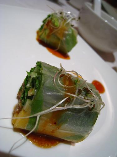 Vietnamese Spring Rolls: Mango & Duck / Soft Shell Crab & Mango