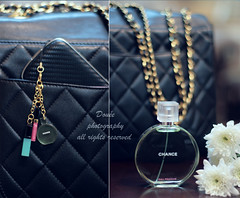 (Doue ) Tags: white flower canon bag 50mm perfume phone mini charm gloss chanel bbb 400d chanelchance douee