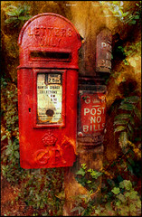 Your card's in the post! ;) (Fishfingers & Custard) Tags: sony postoffice postbox a3 royalmail postmanpat snailmail pillarbox platinumheartaward corblimeytextures
