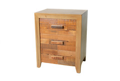 Wildale 3 drawer side table