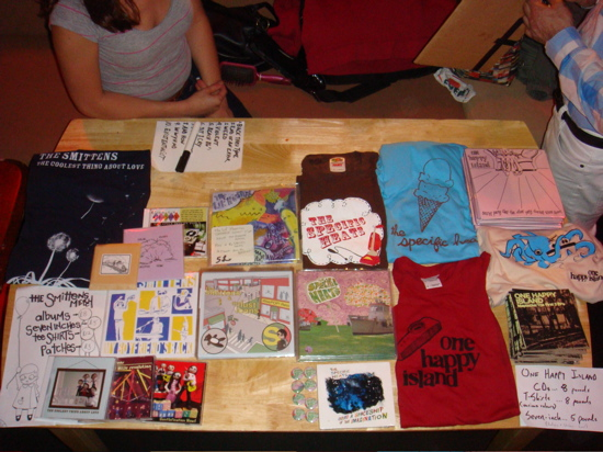 Merch table