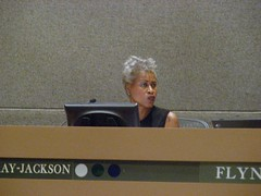 Elvi Gray-Jackson at the July 7 Assembly meeting - voted yes on AO 64