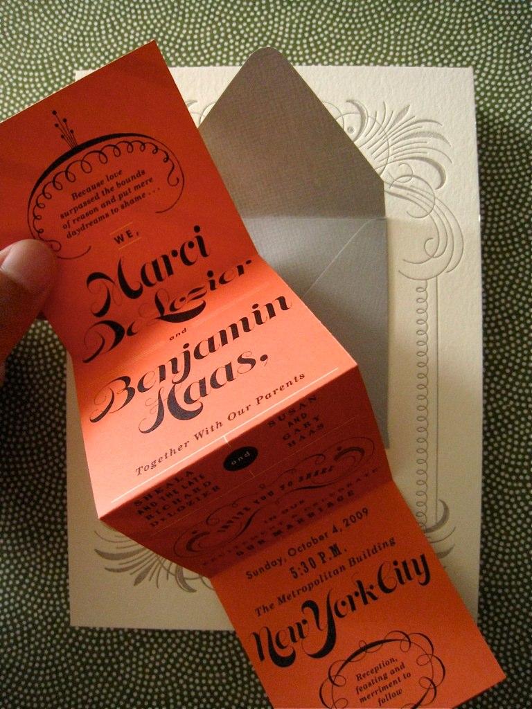 The Indigo Bunting: Marci + Ben invitations