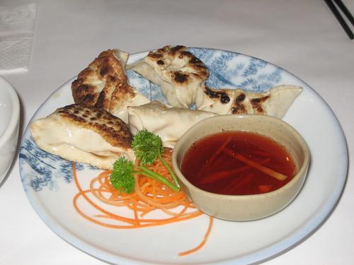 grilled dumpling