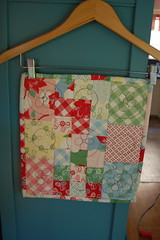Mini Quilt in a Bag Swap (Tiny House) Tags: quilt mini urbanchicks