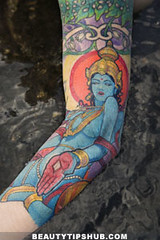 Religious tattoo (RaghavTayal) Tags: girl arm image multicolored indiangod armtattoo stylestatement