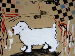 placemat tablesetting westiedog funkyart