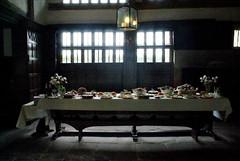 tudor feast (whaite for me) Tags: food cakes feast table hall tudor pies buffet banquet