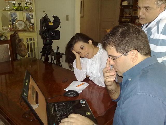 Renata Vasconcellos na entrevista para o Bom Dia Brasil - criando o twitter dela