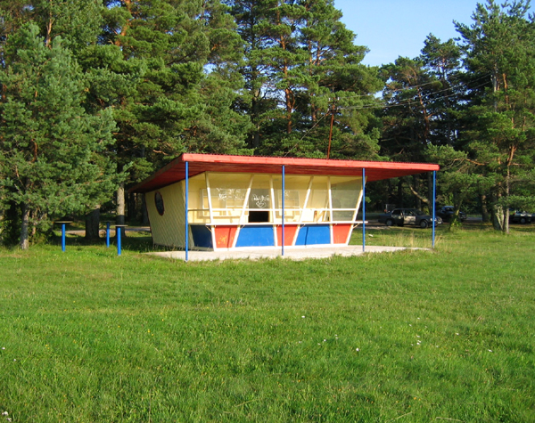 Empty kiosk, Baltic coast