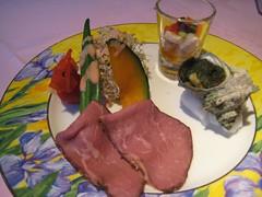 花彩亭のディナー