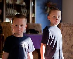 Brock and Braden (nosha) Tags: portrait minnesota nikon august mn 2009 ais lightroom blackmagic nosha 50mmf12 1100sec nikond40 noshalikes ul20090809