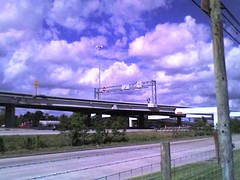 View of northbound I-45 HOV exit to F.M. 1960 (FreewayDan) Tags: texas freeway houstonarea interstate45 hovlane