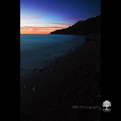   S u n s e t S h o  r e l i n e   (JBR_JBR) Tags: longexposure sunset sun moon lake water stars landscape rocks waves wind nights huron