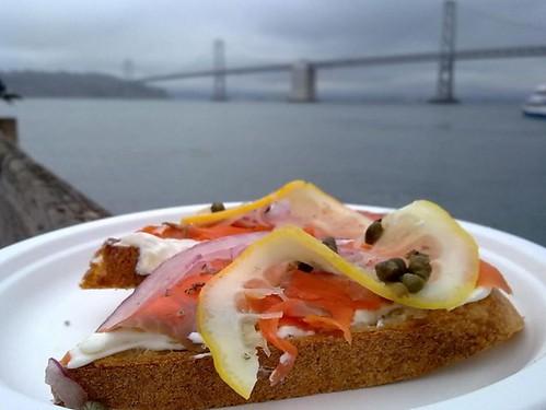 Sockeye Salmon Lox Sandwich