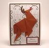 Origami Reindeer Christmas Card