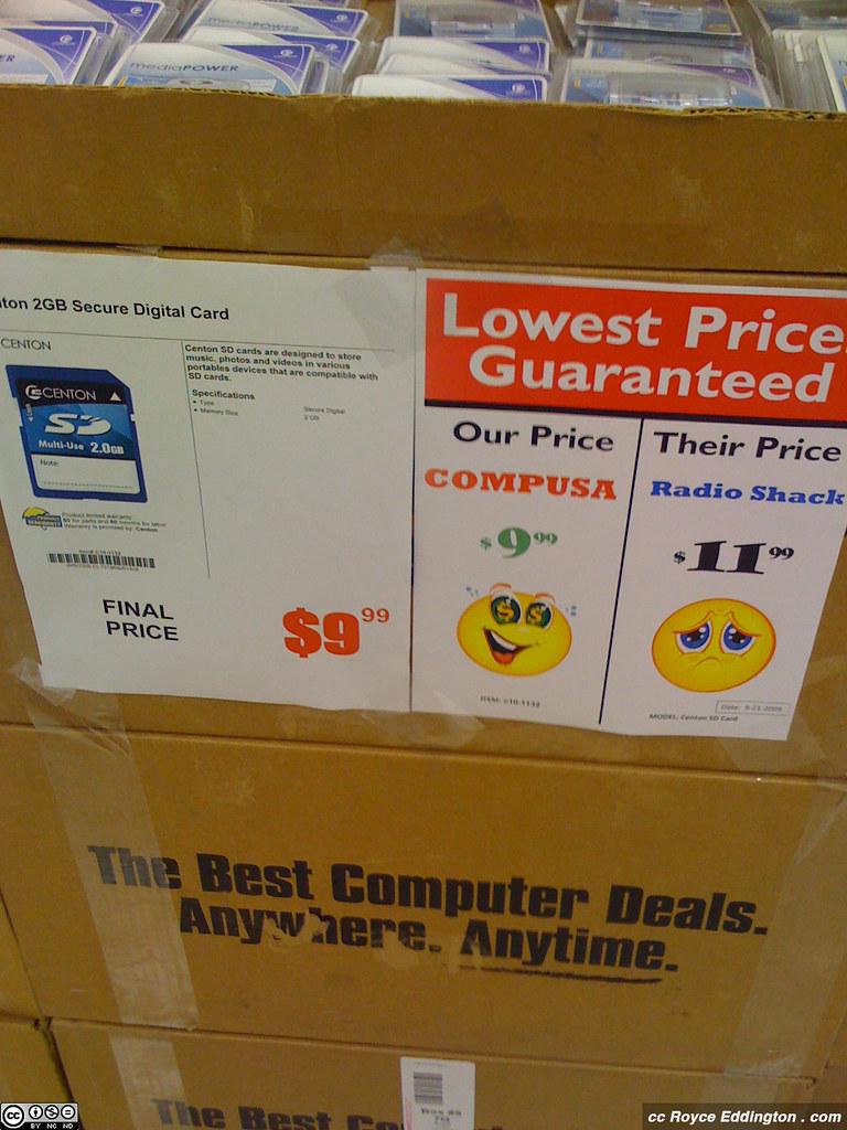 CompUSA Price Comparison