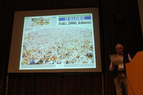 Por primera vez en su historia, O Globo presentó una foto usando la portada y la contraportada.