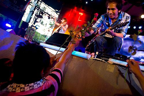 At a look thung concert, Bangkok